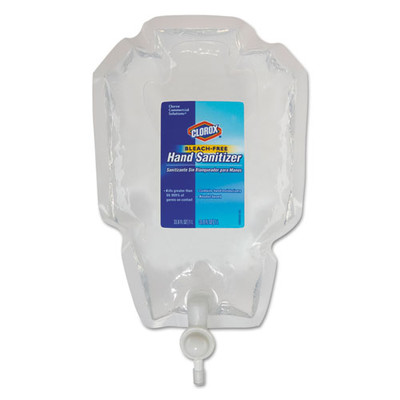 Clorox Hand Sanitizer Refil for the Clorox Push Button Dispenser (01752 Sold Separately), 1L Bag - Part Number: 8304-06115