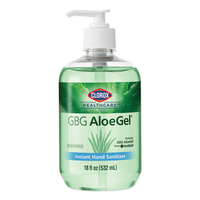 Clorox Healthcare GBG AloeGel Instant Hand Sanitizer, 18 oz Bottle - Part Number: 8304-06119