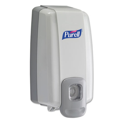 Purell NXT SPACE SAVER Dispenser, 1000 mL, 5.13 x 4 x 10 inches, White/Gray - Part Number: 8304-06137