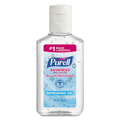 Case of 250 - Purell Advanced Hand Sanitizer Refreshing Gel, Clean Scent, 1 oz Bottle - Part Number: 8304-06138CT