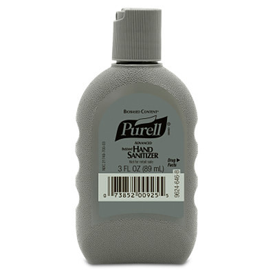 Purell Advanced Hand Sanitizer Biobased Gel 3oz FST Rugged Portable Bottle - Part Number: 8304-06143