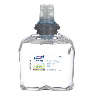 Purell Advanced Hand Sanitizer Green Certified TFX Foam Refill, 1200 ml, Clear - Part Number: 8304-06145