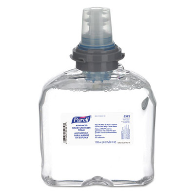 Case of 2 - Purell Advanced TFX Foam Instant Hand Sanitizer Refill, 1200 mL, White - Part Number: 8304-06147CT