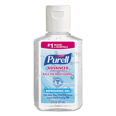 Purell Advanced Hand Sanitizer Refreshing Gel, Clean Scent, 2 oz, Squeeze Bottle - Part Number: 8304-06148
