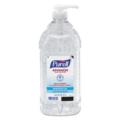 Purell Advanced Hand Sanitizer Refreshing Gel, Clean Scent, 2 L Pump Bottle - Part Number: 8304-06149