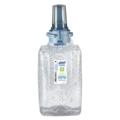 Purell Advanced Hand Sanitizer Green Certified Gel ADX-12 Refill, 1200 ml, Fragrance-Free - Part Number: 8304-06151