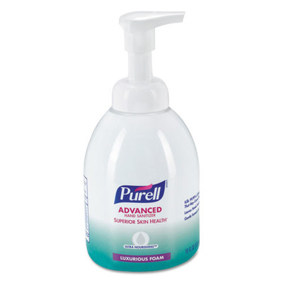 Case of 4 - Purell Advanced Hand Sanitizer Ultra Nourishing Luxurious Foam 18oz Bottle, Fragrance Free - Part Number: 8304-06156CT