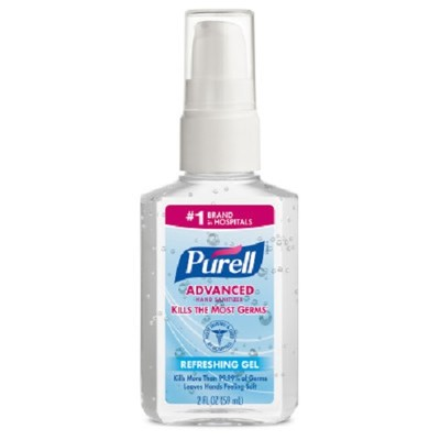 Case of 24 - Purell Advanced Hand Sanitizer Refreshing Gel, Clean Scent, 2 oz Personal Pump Bottle - Part Number: 8304-06162CT