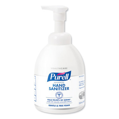 Purell Advanced Green Certified Instant Hand Sanitizer Foam, 535 mL Bottle - Part Number: 8304-06181