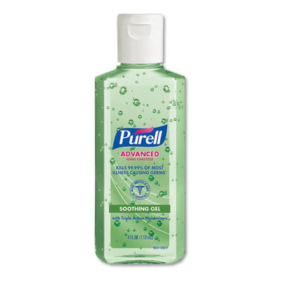 Purell Advanced Soothing Gel Hand Sanitizer, Fresh Scent with Aloe and Vitamin E, Flip-Cap Bottle, 4 oz - Part Number: 8304-06191