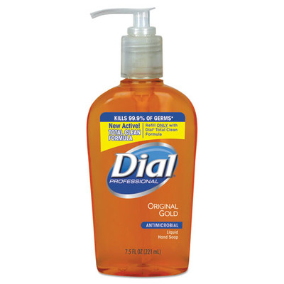 Dial Professional Gold Antimicrobial Hand Soap, Floral Fragrance, 7.5 oz Pump Bottle - Part Number: 8304-06201