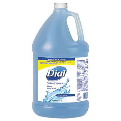 Case of 4 - Dial Antimicrobial Liquid Hand Soap, Spring Water Scent, 1 gal Bottle - Part Number: 8304-06211CT