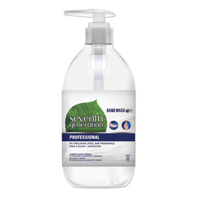 Seventh Generation Natural Hand Wash, Free & Clean, Unscented, 12 oz Pump Bottle - Part Number: 8304-06702