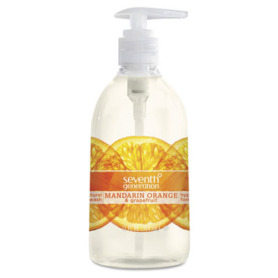 Seventh Generation Natural Hand Wash, Mandarin Orange & Grapefruit, 12 oz Pump Bottle - Part Number: 8304-06705