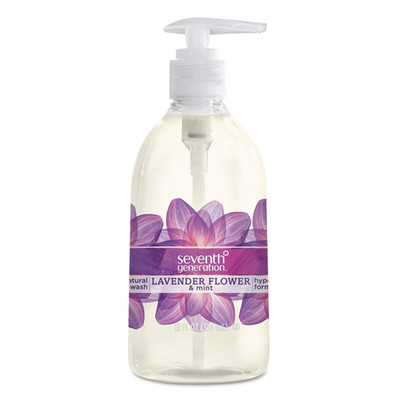Seventh Generation Natural Hand Wash, Lavender Flower & Mint, 12 oz Pump Bottle - Part Number: 8304-06706