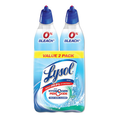Lysol Toilet Bowl Cleaner with Hydrogen Peroxide, Cool Spring Breeze, 24 oz, 2/Pack - Part Number: 8305-00103