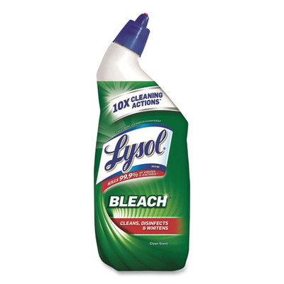 Case of 9 - Lysol Disinfectant Toilet Bowl Cleaner with Bleach, 24 oz - Part Number: 8305-00104CT