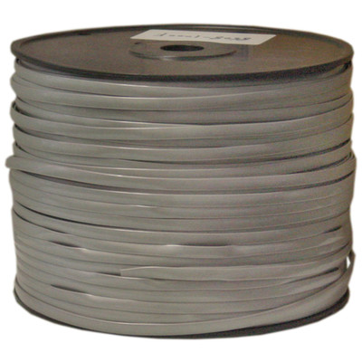 Bulk Phone Cord, Silver Satin, 28/8 (28 AWG 8 Conductor), Spool, 1000 foot - Part Number: 8608-1000F