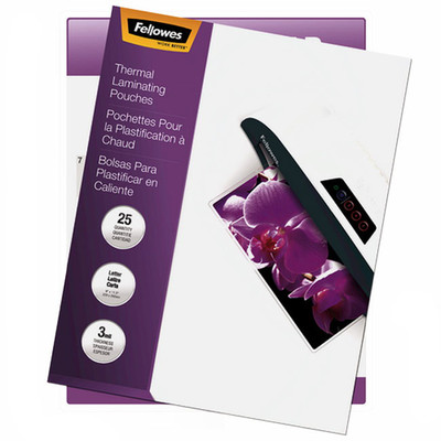 Fellowes Hot Laminating Pouches, Letter, 25PK - 5200501 - Part Number: 8701-00101