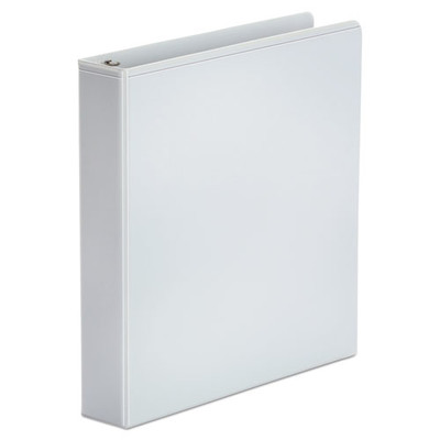 Universal Economy Round Ring View Binder, 1.5 inch Capacity, White - UNV20972 - Part Number: 8711-00102