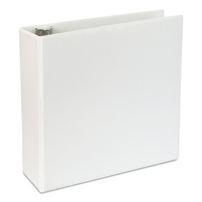 Universal Slant-Ring Economy View Binder, 4 inch Capacity, White - UNV20994 - Part Number: 8711-00105