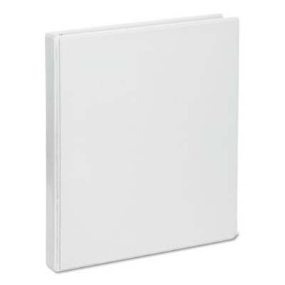 Universal Deluxe Round Ring View Binder, 1/2 inch Capacity, White - UNV20702 - Part Number: 8711-00106