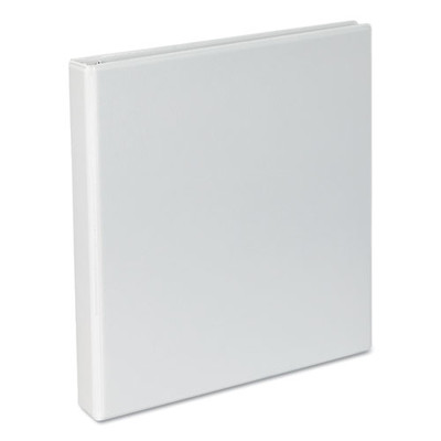 Universal Slant-Ring Economy View Binder, 1 inch Capacity, White - UNV20742 - Part Number: 8711-00109
