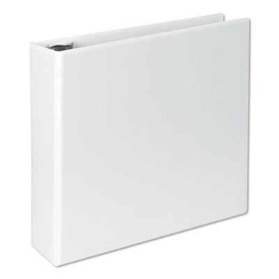 Universal Slant-Ring Economy View Binder, 3 inch Capacity, White - UNV20748 - Part Number: 8711-00110