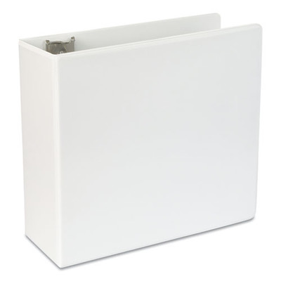 Universal Slant-Ring View Binder, 5 inch Capacity, White - UNV20997 - Part Number: 8711-00111