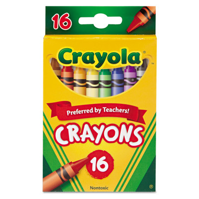 Crayola Classic Color Crayons, Peggable Retail Pack, 16 Colors - Part Number: 9005-20301