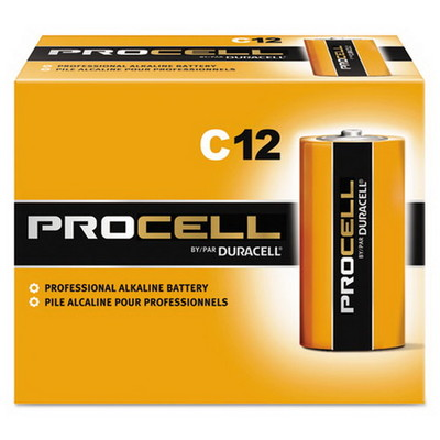 Duracell Procell Industrial Grade Alkaline Batteries, C, PC1400, 12/Box - Part Number: 9081-03012