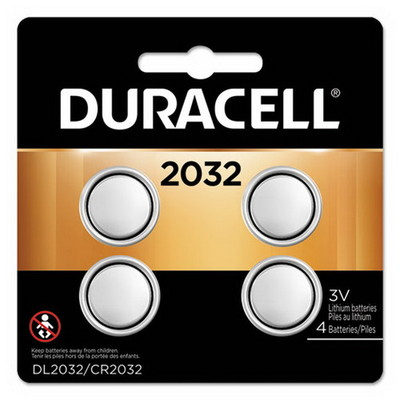 Duracell CR2032, 10-year guarantee, DL2032B4PK, 4/pack - Part Number: 9081-13004