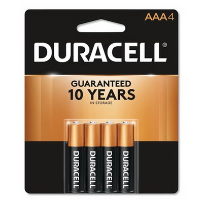Duracell CopperTop Alkaline Batteries, AAA, MN2400B4Z, 4/PK - Part Number: 9082-01004