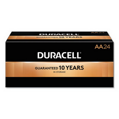 Duracell CopperTop Alkaline Batteries, AA, MN1500B24, 24/PK - Part Number: 9082-02024