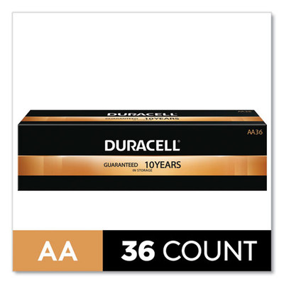 Duracell CopperTop Alkaline AA Batteries, 36/Pack - Part Number: 9082-02036