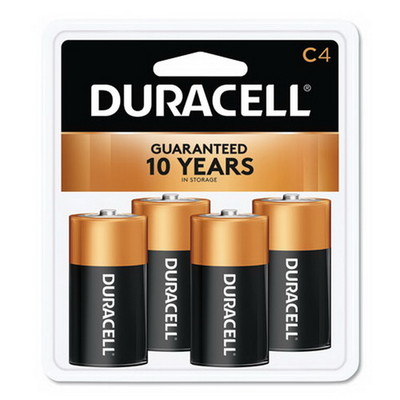 Duracell CopperTop Alkaline Batteries, C, MN1400R4ZX17, 4/PK - Part Number: 9082-03004