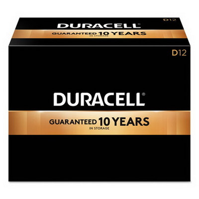 Duracell CopperTop Alkaline Batteries, D, MN1300, 12/PK - Part Number: 9082-04012