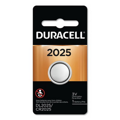 Duracell Lithium CR2025 Battery, DL2025BPK - Part Number: 9082-12001