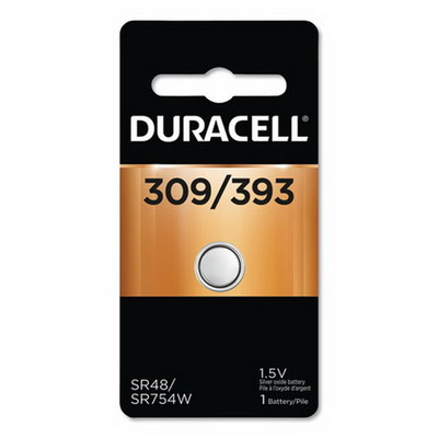 Duracell 309/393 1.5V Button Battery, D309393 - Part Number: 9082-32001