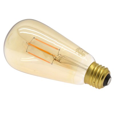 3.5 Watt (25W Equiv.) Warm (2200k) Edison Style, Dimmable LED Filament Bulb, E26 - Part Number: 90L2-20203