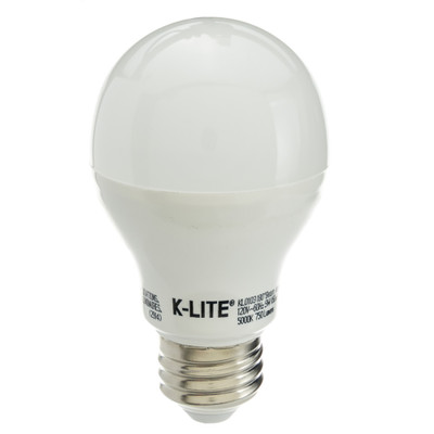9 Watt (60W Equivalent) Daylight (5000K) A19 LED Light Bulb - Part Number: 90L2-50160