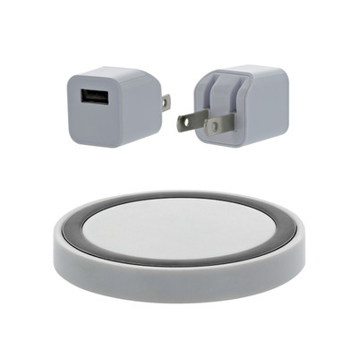 Wireless Charger(Wall Plug + USB Cable + Charge Puck), White - Part Number: 90W1-315WH