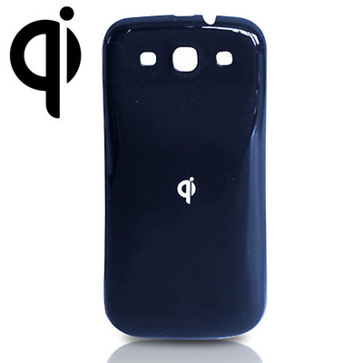 Qi Wireless Charging Back Cover for Samsung Galaxy S3, Pebble Blue - Part Number: 90W3-03200