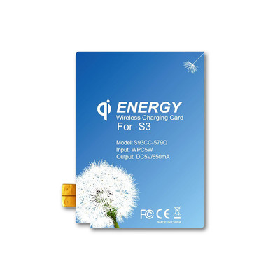 Qi Wireless Charging Energy Card for Samsung Galaxy S3 - Part Number: 90W3-03310