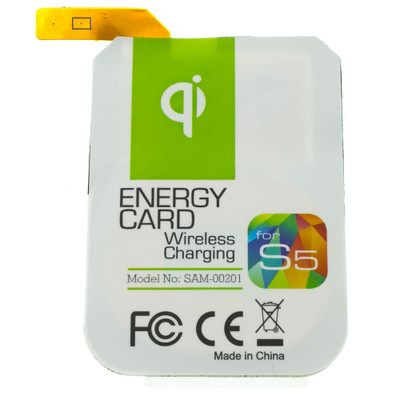 Qi Wireless Charging Energy Card for Samsung Galaxy S5 - Part Number: 90W3-03350