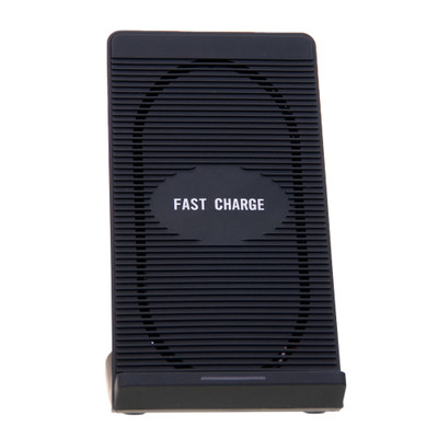 Qi Fast Wireless Charging Stand.  Dual Coil. 10W. Black. - Part Number: 90W3-20100