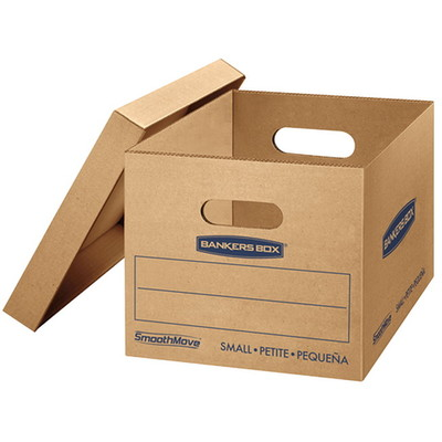 Fellowes Bankers Box, SmoothMove, Basic Duty Storage and File Boxes w/Lift off Lids - Part Number: 9301-00103