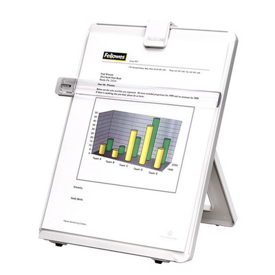 Fellowes Copyholder, Letter Sized, Non-Magnetic, Platinum - Part Number: 9301-00106