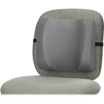 Fellowes Brand Standard Back Rest w/ adjustable strap, Graphite color - Part Number: 9301-00131