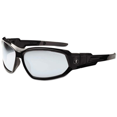 Ergodyne Skullerz Loki Safety Glasses/Goggles, Black Frame/In/Outdoor Lens,Nylon/Polycarb - Part Number: 9305-00101